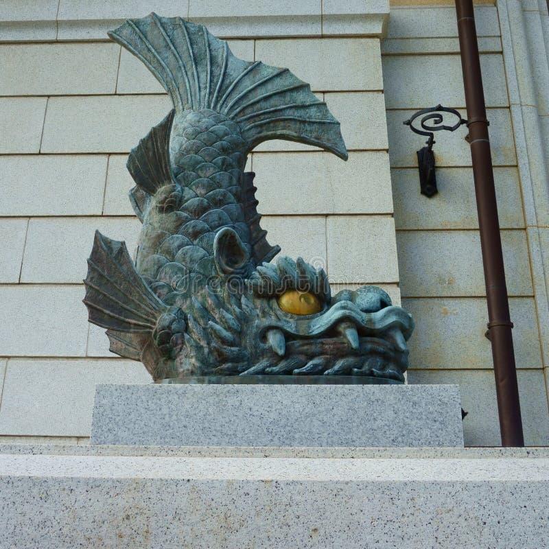 Детализируйте декоративные архитектурноакустические элементы Строя museumin Yushukan, Yasukuni Jinja стоковое фото rf