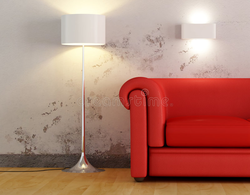 детализируйте красную софу стоковое фото rf