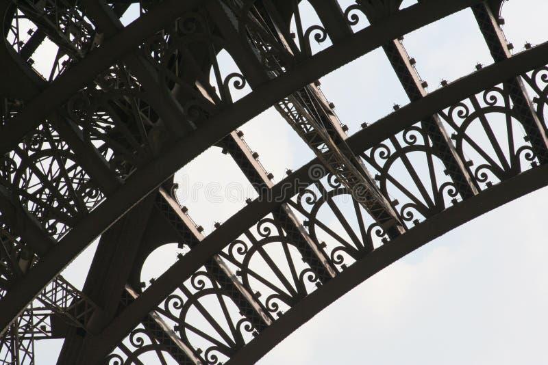 детализируйте Эйфелеву башню стоковое изображение