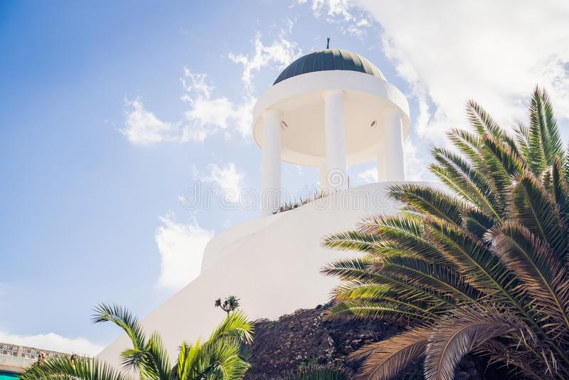 Детали архитектуры в Puerto de Ла Cruz, Тенерифе, Испании стоковые фотографии rf