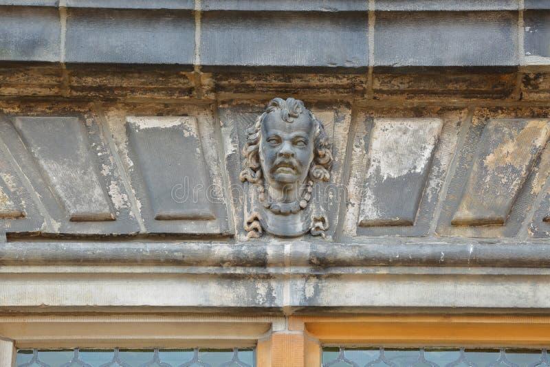 Детали внешнего фасада ратуши отстраиванной заново в 1629 в Делфте стоковые фотографии rf
