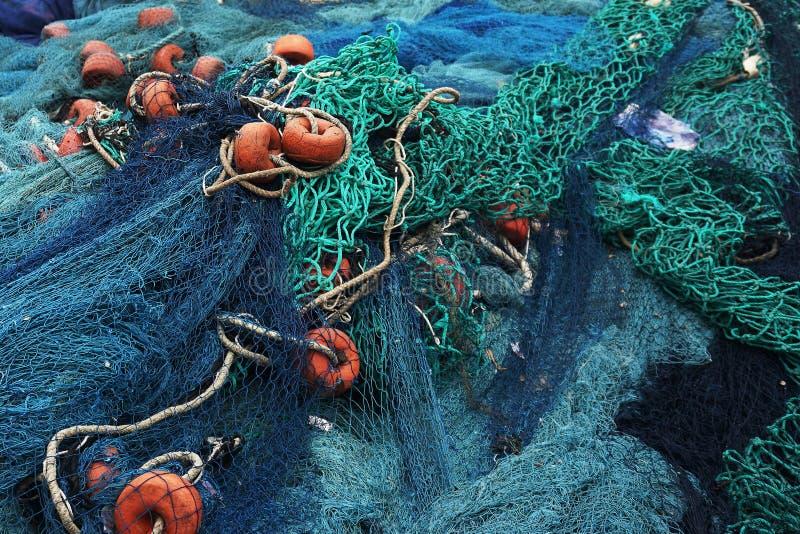 Детали голубые fishernets в Того стоковая фотография