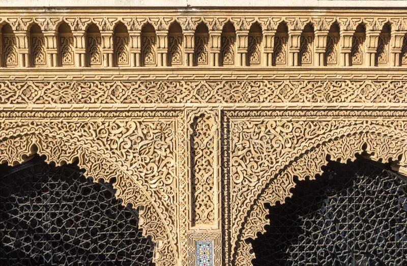 Детали двери морокканского стиля архитектуры стоковая фотография rf