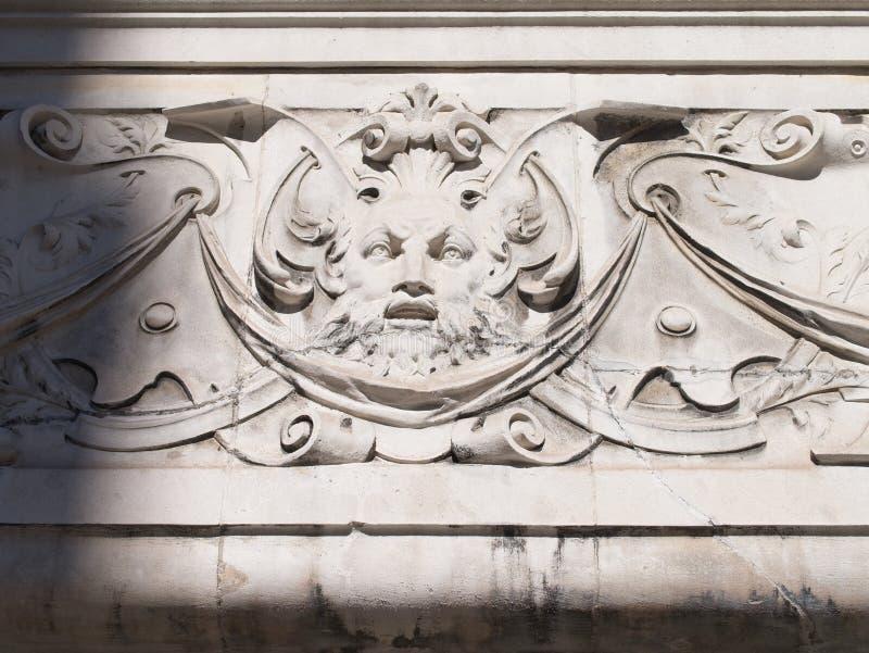 Детали декоративного резного изображения и художественной скульптуры стоковое фото rf