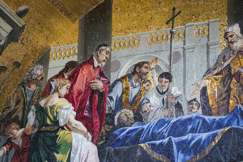 Детали интерьера базилики ` s St Mark в Венеции стоковое изображение