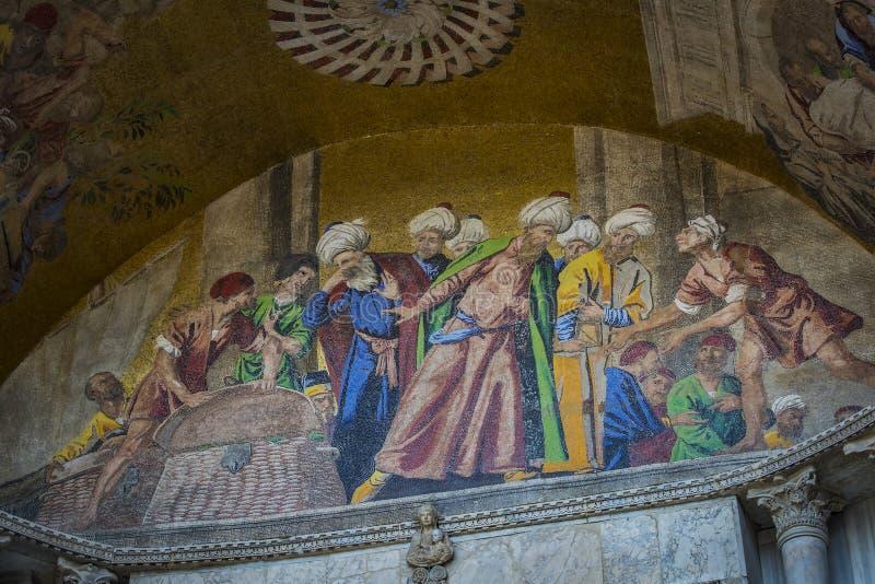 Детали интерьера базилики ` s St Mark в Венеции стоковое фото rf