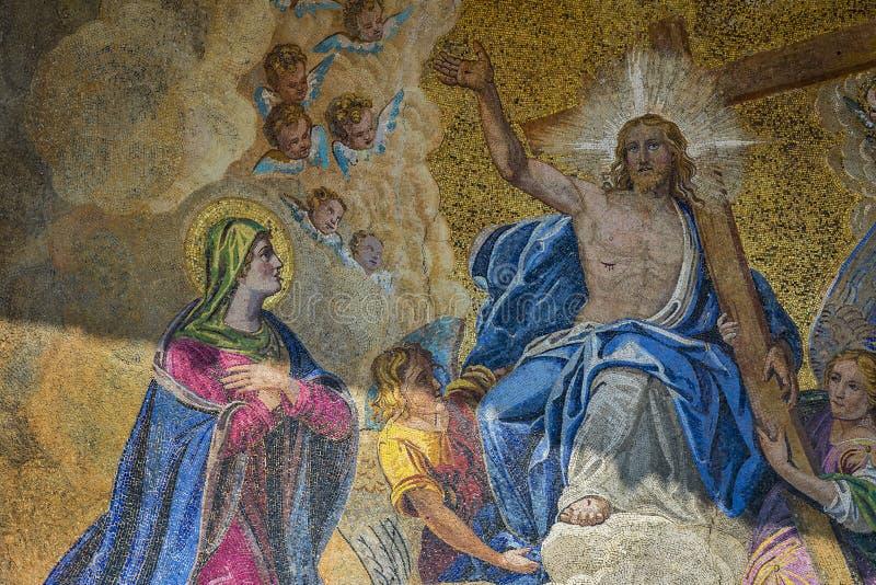 Детали интерьера базилики ` s St Mark в Венеции стоковые фотографии rf