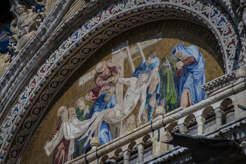 Детали интерьера базилики ` s St Mark в Венеции стоковая фотография