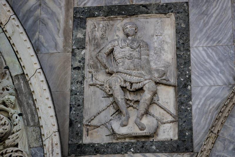 Детали интерьера базилики ` s St Mark в Венеции стоковые фото