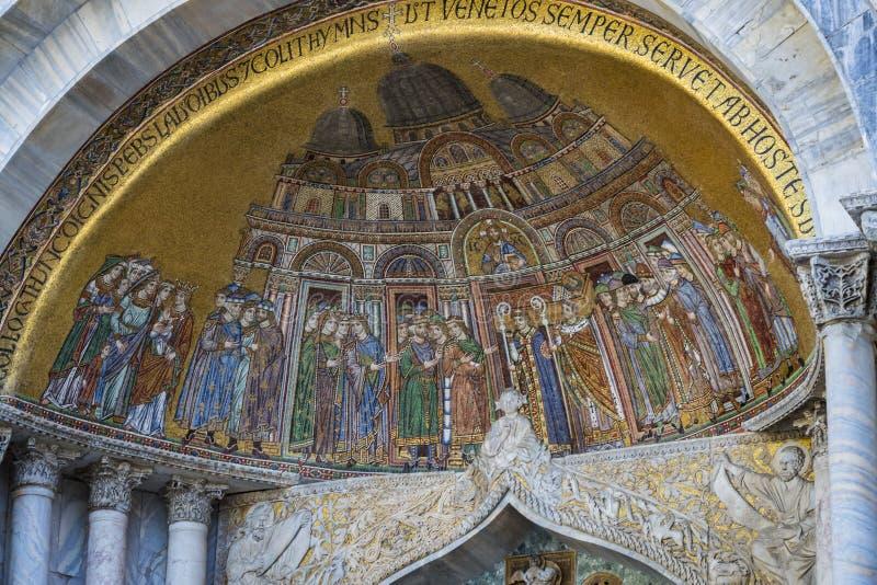 Детали интерьера базилики ` s St Mark в Венеции стоковая фотография rf