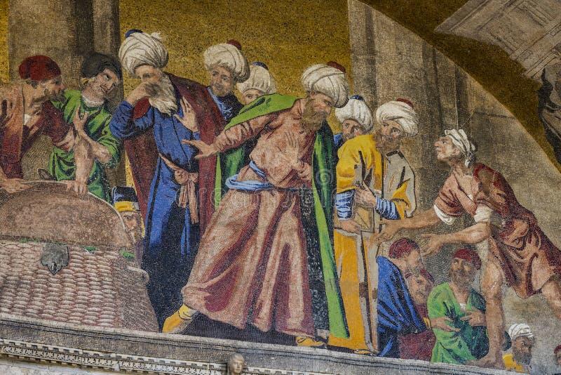 Детали интерьера базилики St Mark в Венеции стоковое фото rf