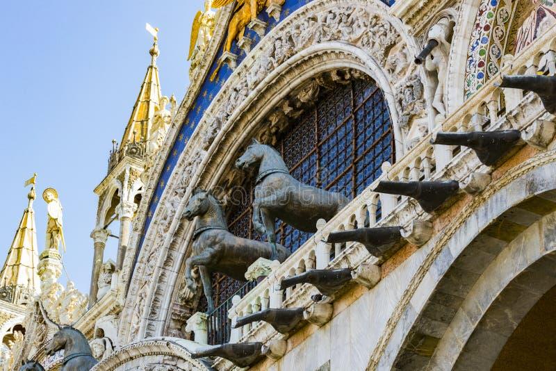 Детали интерьера базилики St Mark в Венеции стоковое изображение