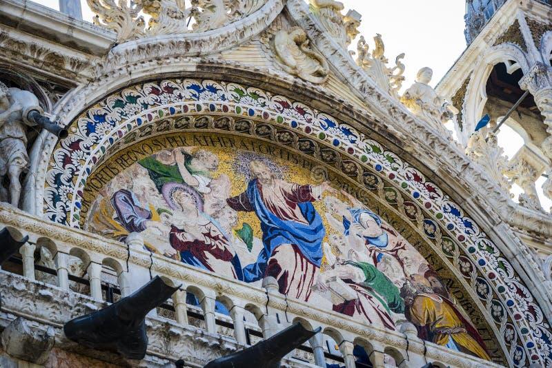 Детали интерьера базилики St Mark в Венеции стоковая фотография