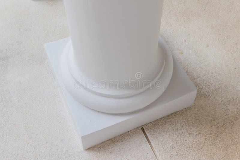 Детали конструкции: Основание круглого столбца, китайско--Portugese styl стоковые фото