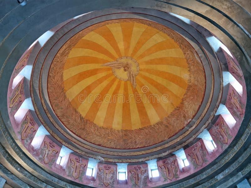 Детали куполка купола мавзолея стоковая фотография
