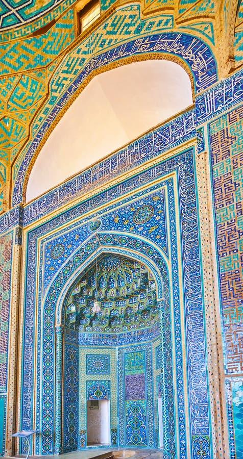 Детали мечети Jameh, Yazd, Ирана стоковая фотография rf