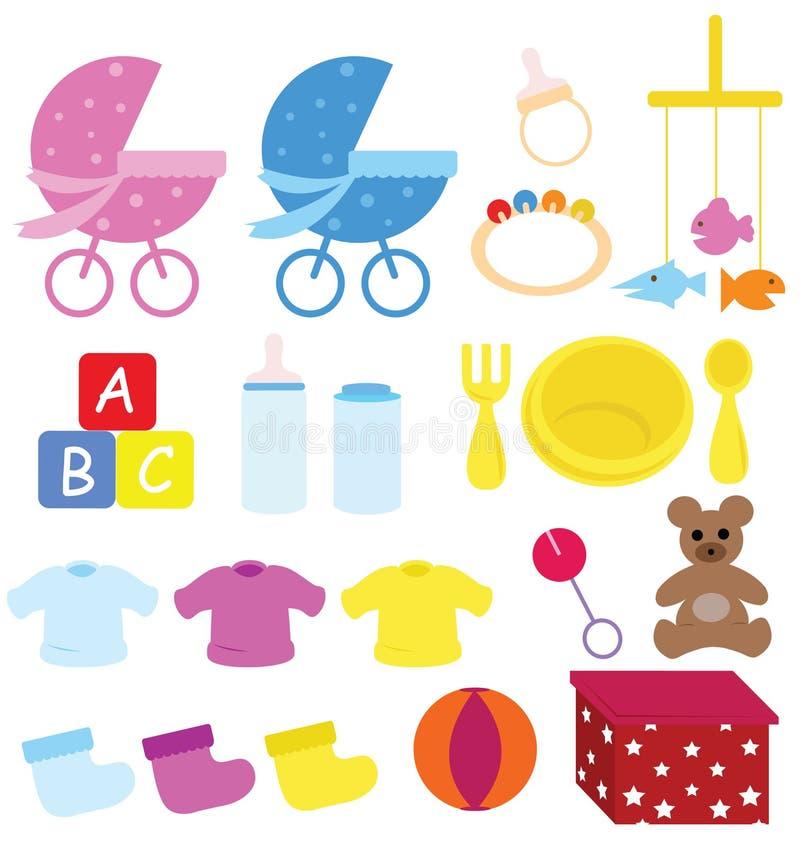 детали младенца иллюстрация вектора