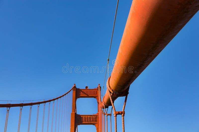 Детали моста золотого строба стоковая фотография rf