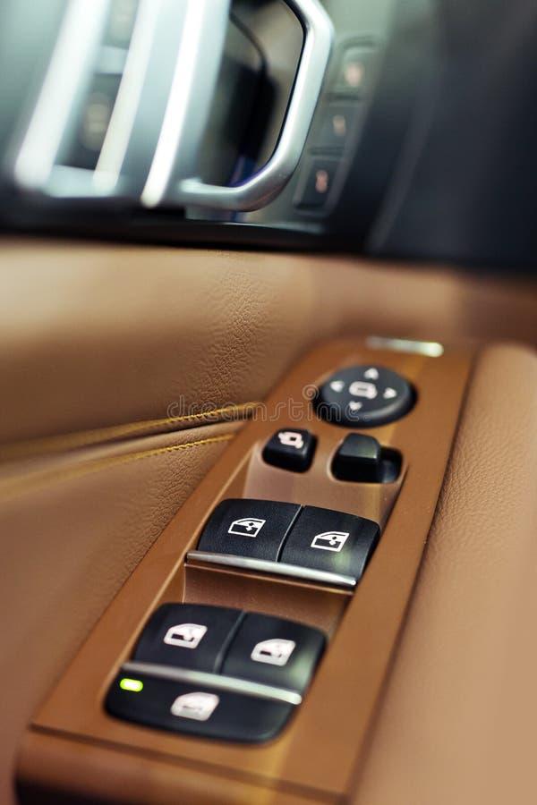 Автомобильные двери Детали автомобиля внутренние стоковое изображение rf