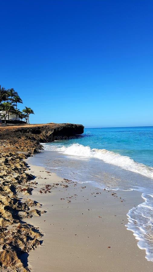 Детали пляжа в городе Варадеро стоковое фото rf