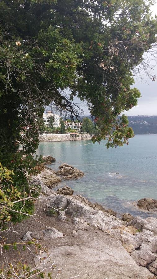 Детали прогулки, Opatija, Хорватия стоковая фотография