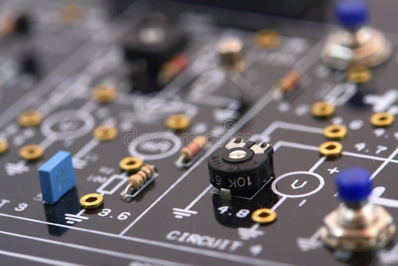 Детали радиотехнической схемы стоковое фото rf