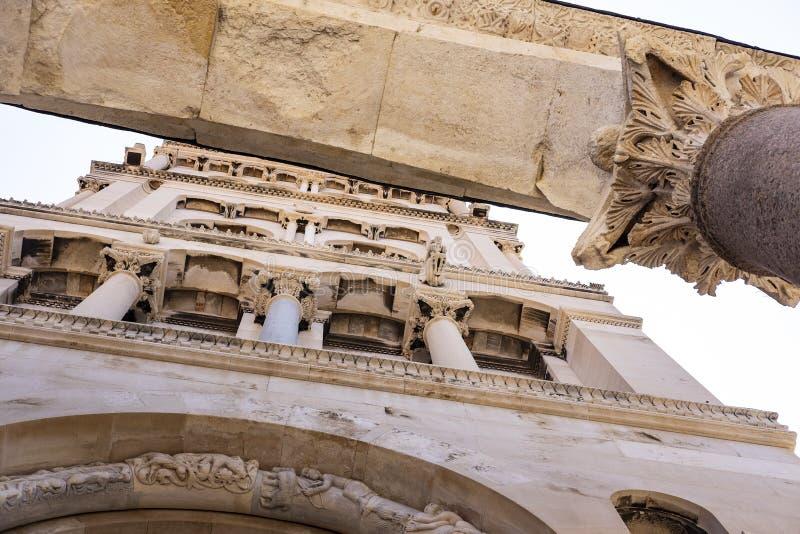 Детали римского столбца стоковая фотография rf