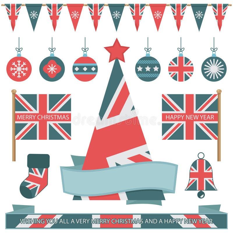 Детали рождества Великобритании иллюстрация штока