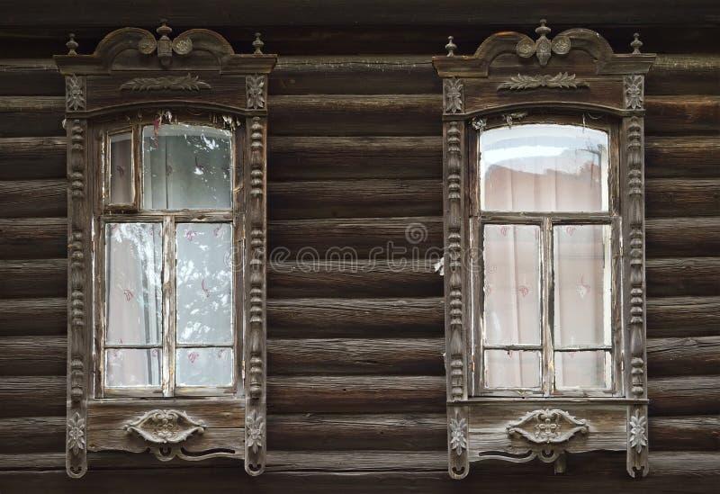 Детали старого русского izba 2 стоковое изображение rf