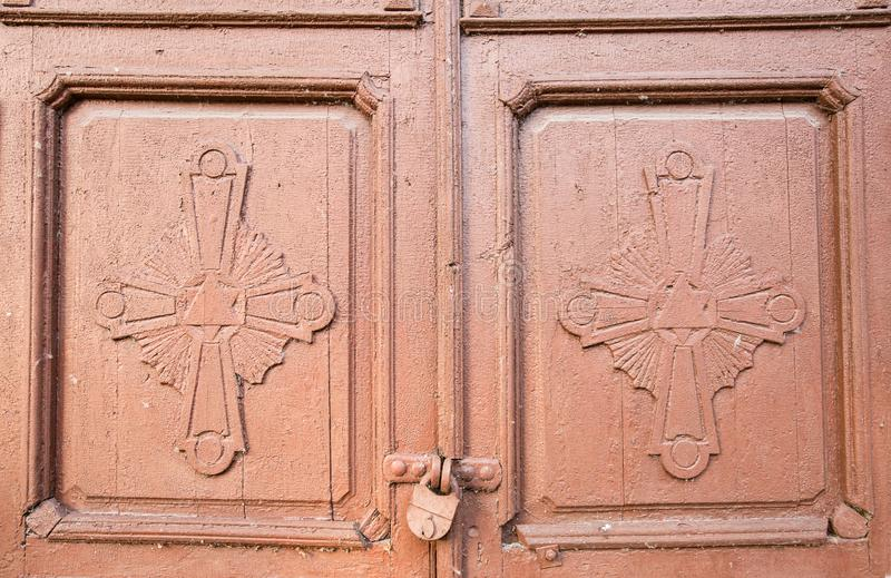 Детали фасадов и двери церков в Veliky Новгороде стоковое изображение rf