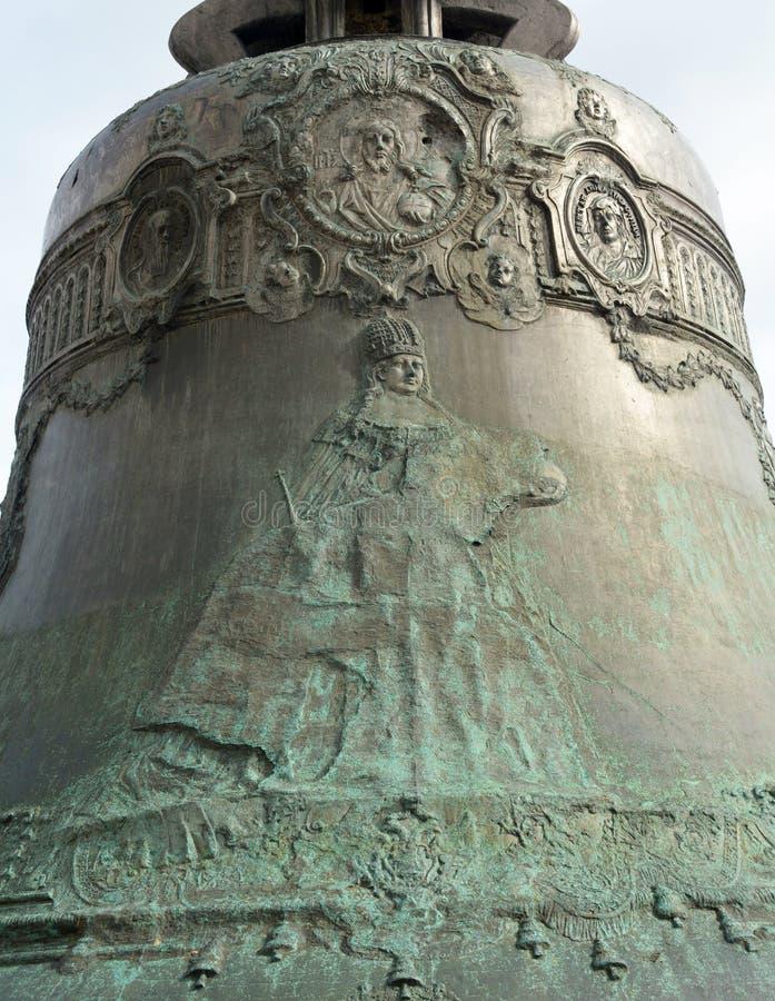Детали царя колокола в Москве Кремле стоковая фотография