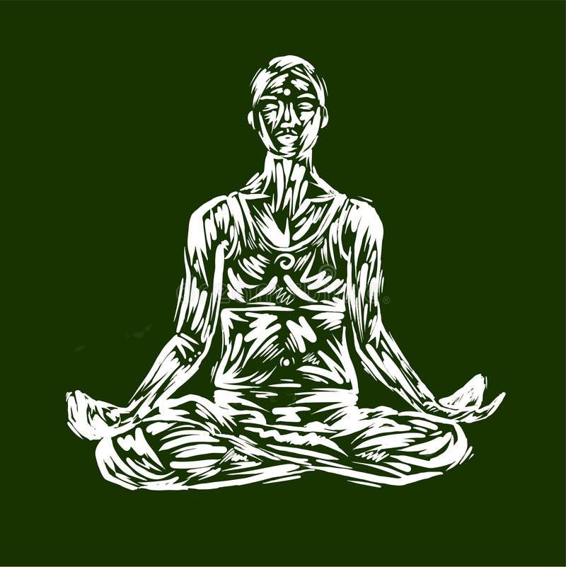 Детальная иллюстрация йоги силуэта релаксация pilates пригодности принципиальной схемы шарика гимнастика аэроплана Представление  иллюстрация вектора