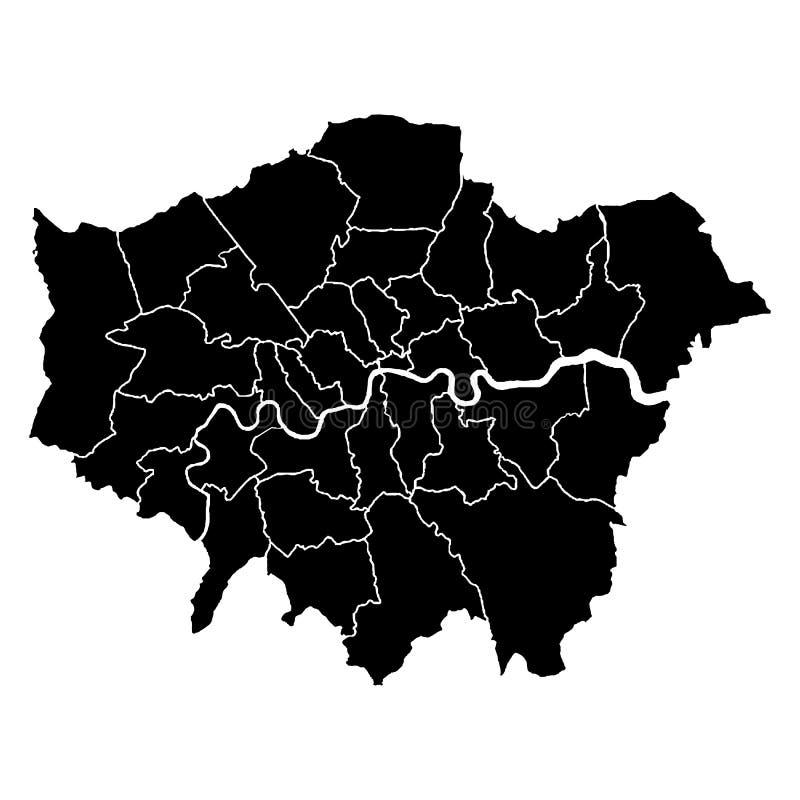 Детальная точная карта Лондона в высоком разрешении стоковые изображения rf