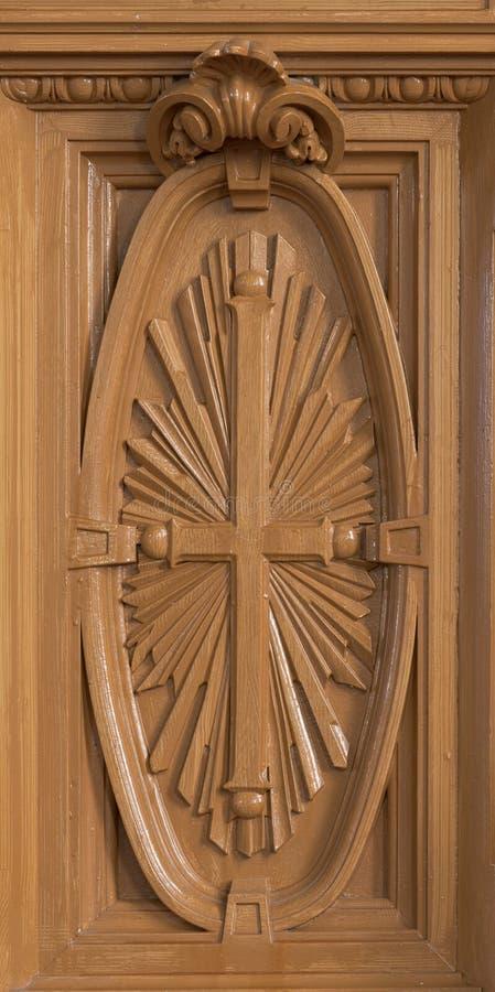 Детальное оформление внутри католической церкви ` s St Peter стоковое изображение