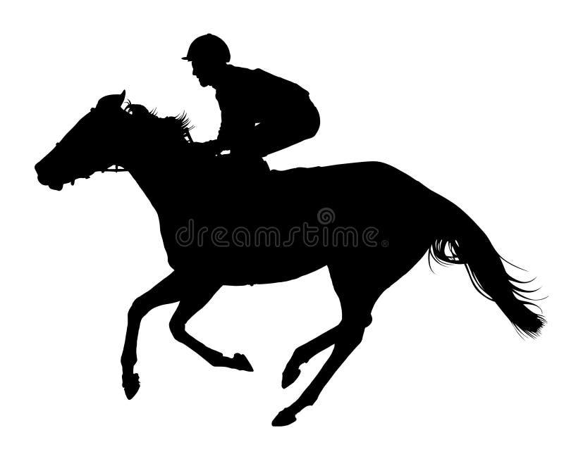 детальный вектор жокея лошади очень иллюстрация штока