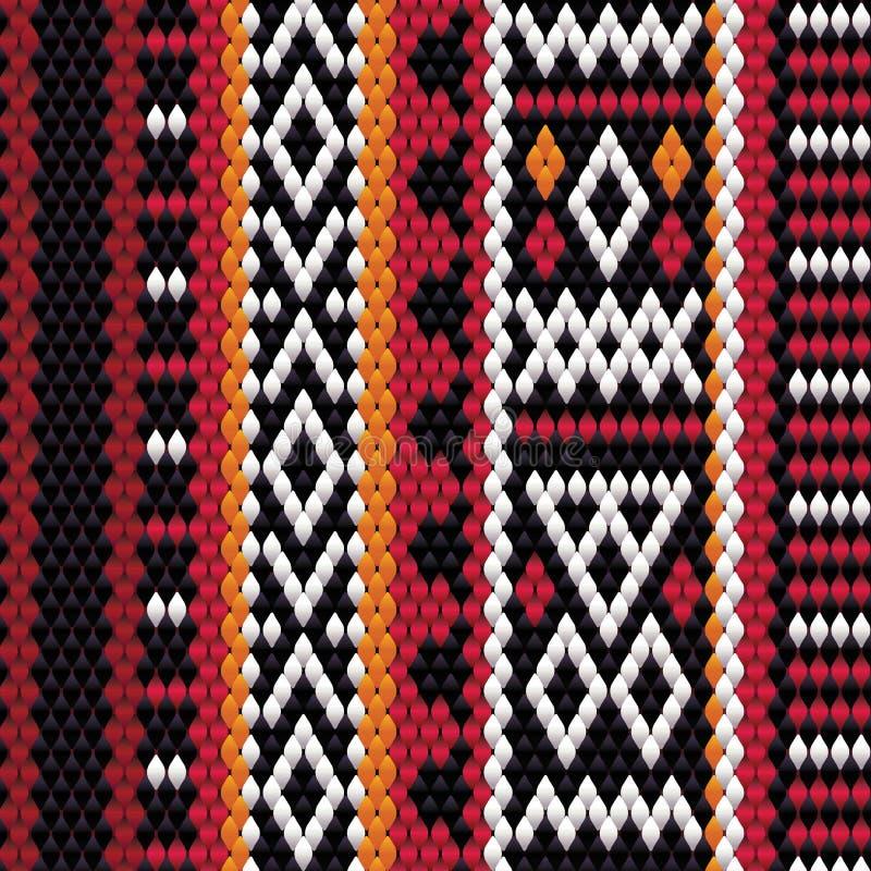 Детальный вертикальный мотив традиционное Handmade Sadu бесплатная иллюстрация