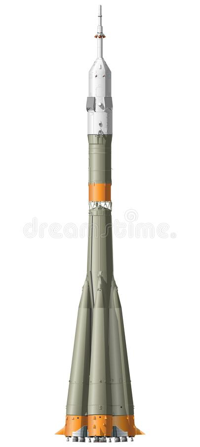 детальный высокий вектор космоса ракеты иллюстрация вектора