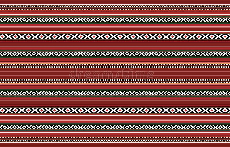 Детальный горизонтальный традиционный Handcrafted красный половик Sadu иллюстрация вектора