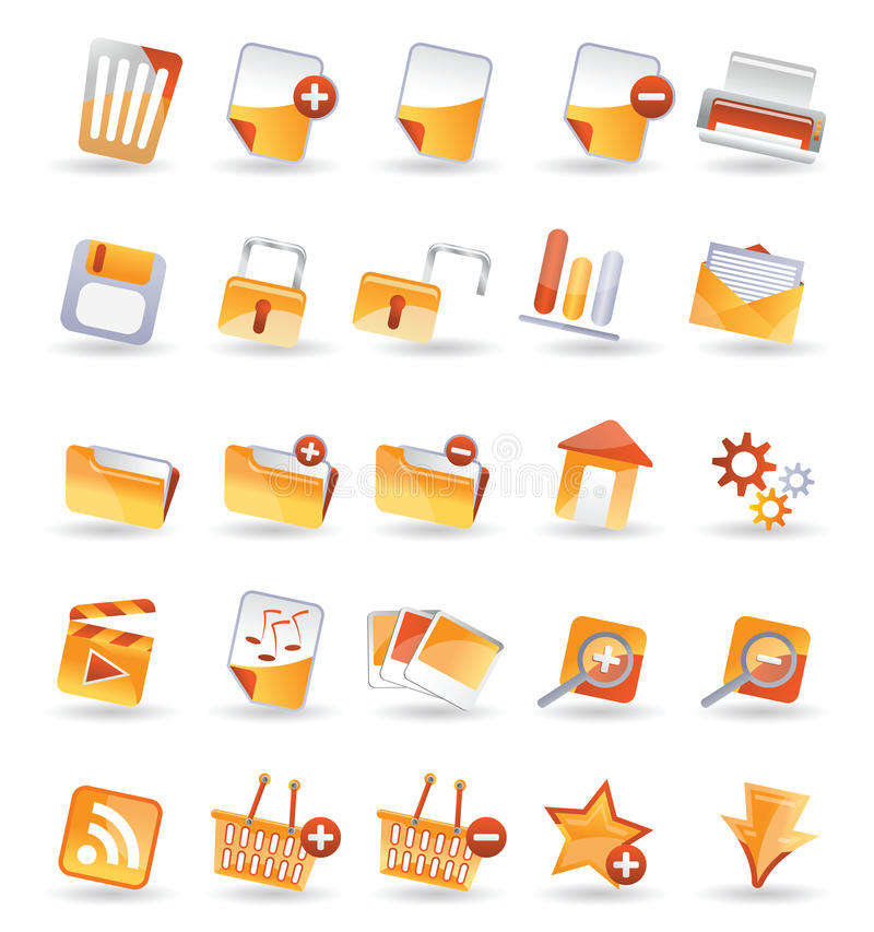 детальный интернет иконы 25 бесплатная иллюстрация
