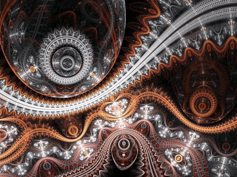Детальный clockwork фрактали бесплатная иллюстрация