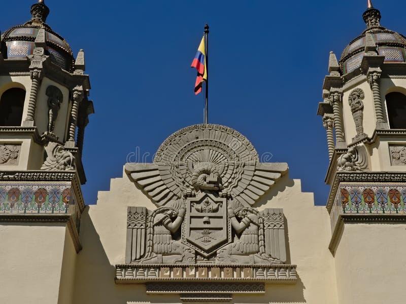 Деталь архитектуры колумбийского консульства в Севилье стоковые фотографии rf