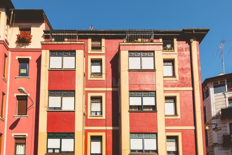 Деталь архитектуры типичного здания Бильбао стоковые изображения