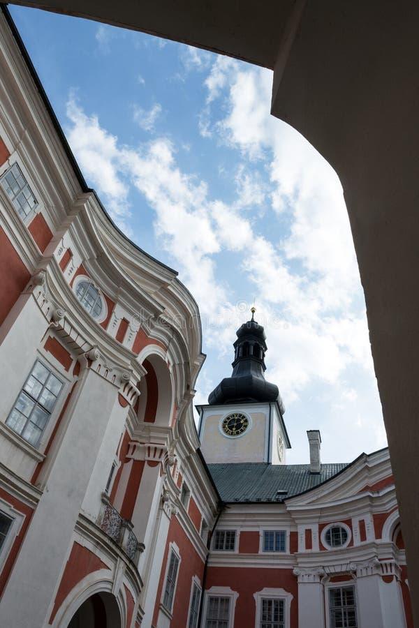 Деталь барочного фасада монастыря стоковое фото rf