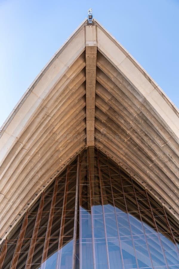 Деталь белой структуры крыши оперного театра Сиднея, Австралии стоковые изображения rf