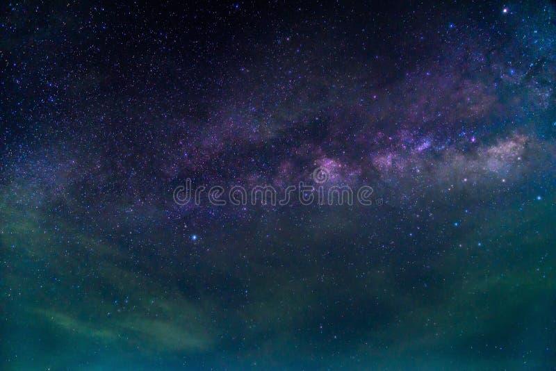 Деталь галактики млечного пути, долгая выдержка стоковое фото