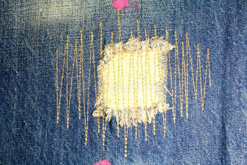 Деталь джинсыов стоковые фотографии rf