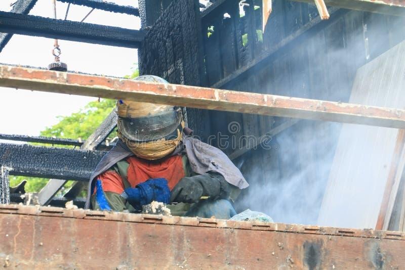 Деталь домашнего огня отображает пожарище стоковые фотографии rf