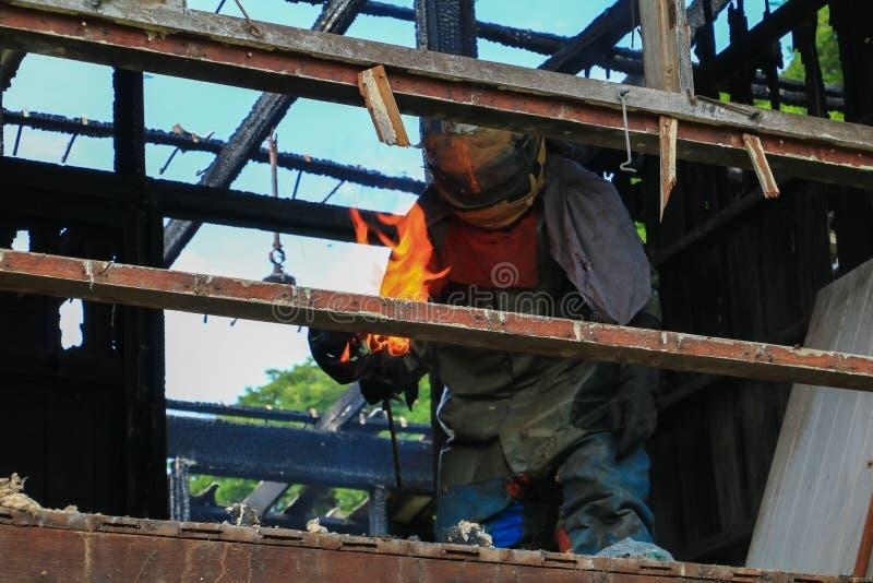 Деталь домашнего огня отображает пожарище стоковые фото