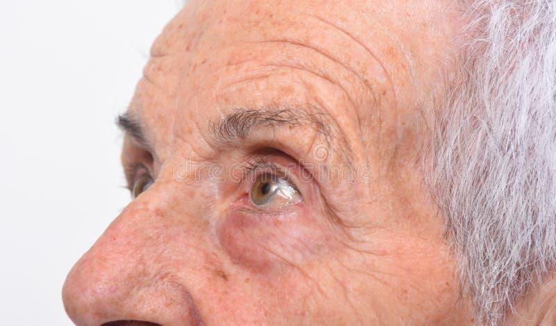 Деталь женщины глаз старшей стоковая фотография rf