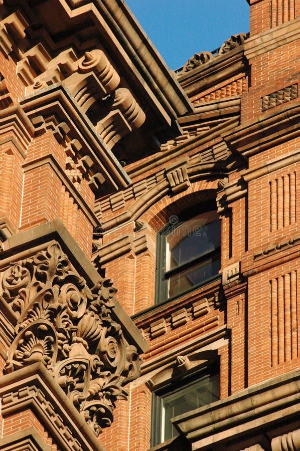 деталь здания понижает Manhattan Стоковая Фотография RF